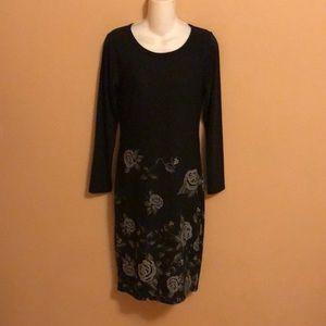 LulaRoe Julie Black Dress S